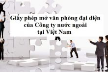 Thành lập văn phòng đại diện tại Việt Nam