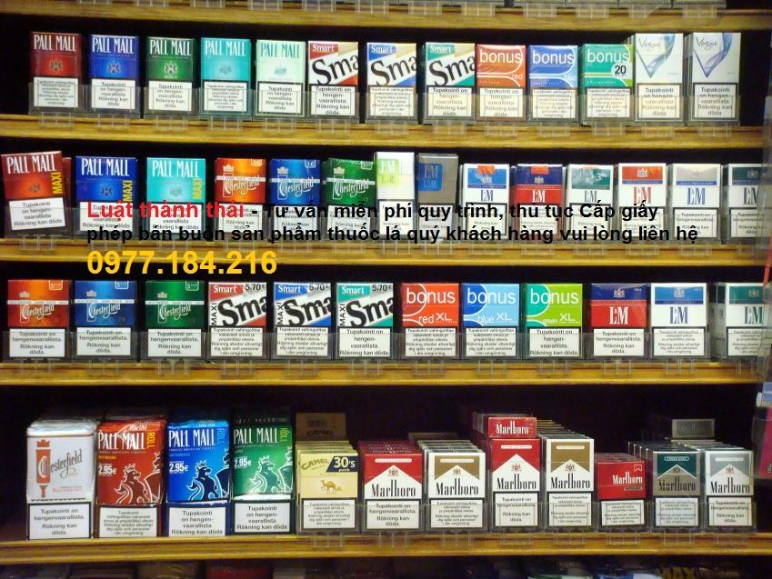 giấy phép bán buôn thuốc lá