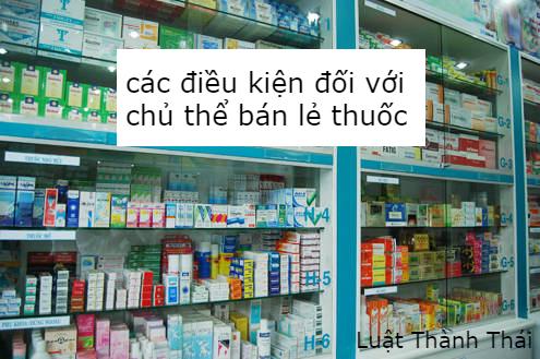 các điều kiện đối với chủ thể bán lẻ dược phẩm