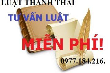 Luật Thành Thái tư vấn pháp luật miễn phí