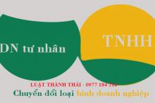 Một số lưu ý khi chuyển đổi doanh nghiệp tư nhân thành công ty TNHH.