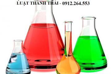 Điều chỉnh GCN đủ điều kiện sản xuất , kinh doanh hóa chất có điều kiện