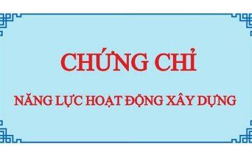 Hồ Sơ Xin Cấp Chứng Chỉ Năng Lực Hoạt Động Xây Dựng Gồm Những Gì?