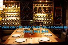 Hồ sơ đề nghị cấp Giấy phép phân phối rượu tại Việt Nam