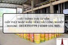Dịch vụ làm Giấy phép nhập khẩu tiền chất công nghiệp tại Luật Thành Thái