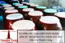 Tư vấn quy trình xin cấp Giấy phép sản xuất rượu thủ công tại Luật Thành Thái