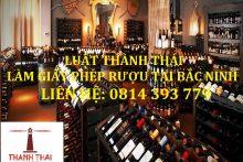 Hồ sơ đề nghị cấp Giấy phép bán buôn rượu tại Bắc Ninh