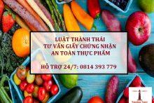 Dịch vụ trọn gói xin Giấy chứng nhận An toàn thực phẩm – Luật Thành Thái