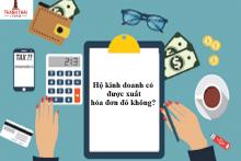 Hộ kinh doanh có xuất hóa đơn đỏ được không?